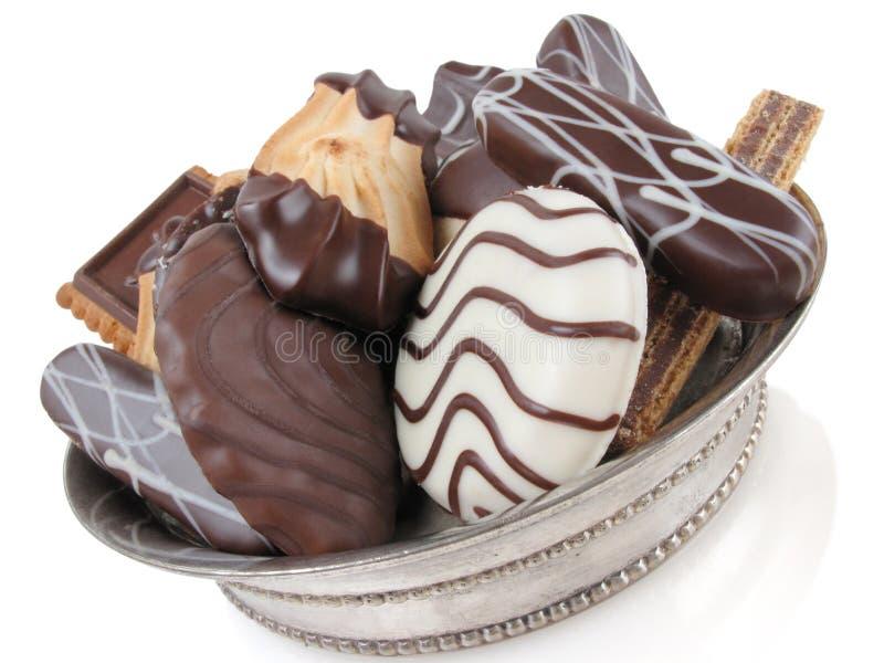 Reiche Schokoladen-Plätzchen stockfotografie