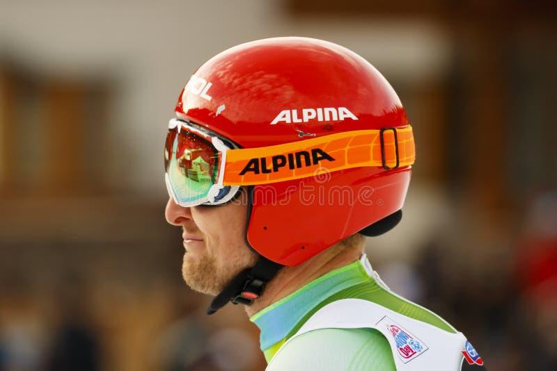 Reichelt Hannes dans Audi FIS Ski World Cup alpin - Downhi des hommes images libres de droits