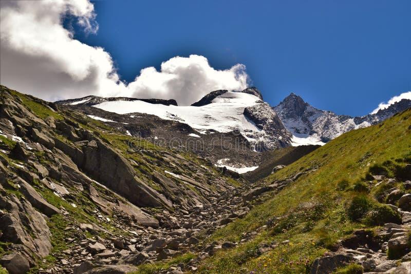 Reichenbachspitze lodowiec fotografia royalty free