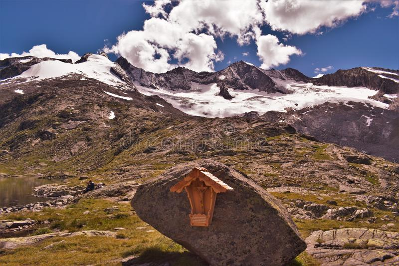 Reichenbachspitze lodowiec zdjęcie royalty free