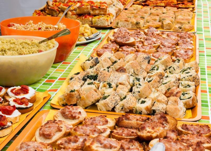 Reiches Frühstücksbuffet stockbild