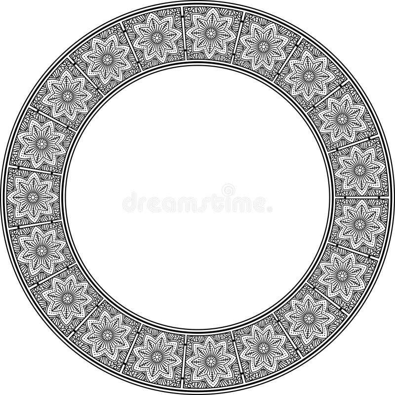Reiches verziert ringsum Rahmen mit aufwändigem Muster Rebecca 6 stock abbildung