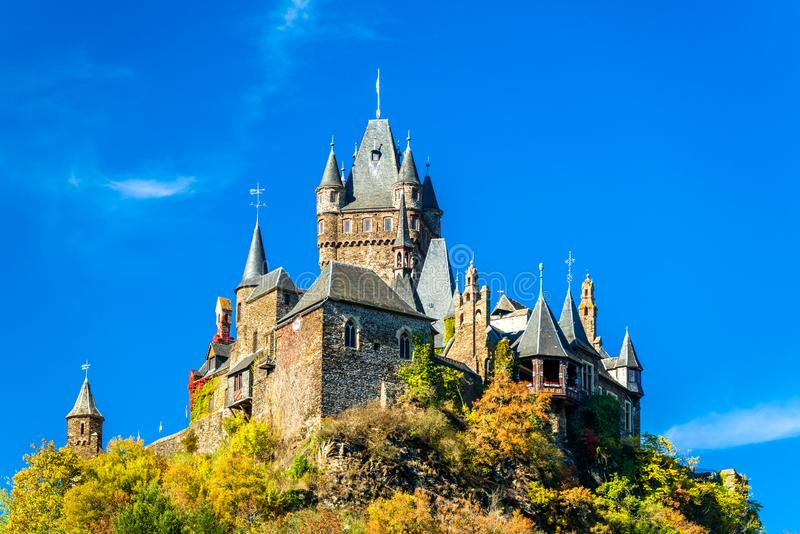 Reichsburg Cochem, el castillo imperial en Alemania fotos de archivo libres de regalías