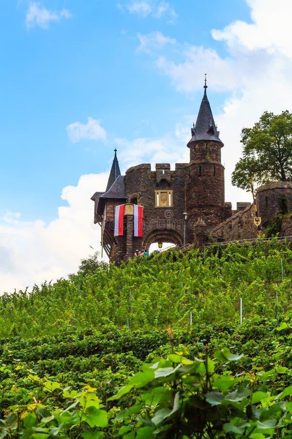 Reichsburg Cochem na Rzecznym Moselle obraz stock