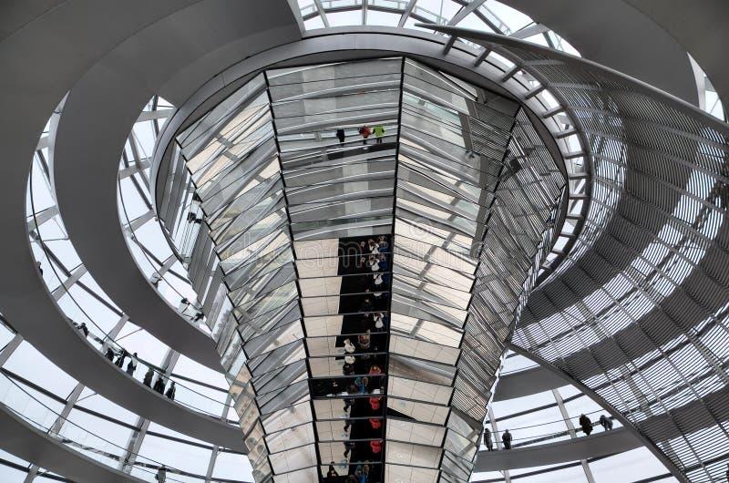 Reichstag圆顶。 里面视图。 免版税库存图片