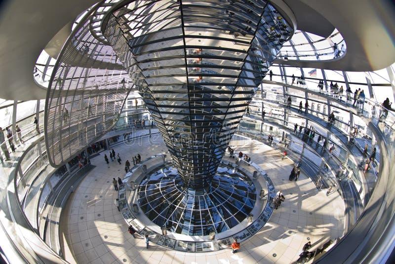 Reichstag圆顶在柏林 库存图片