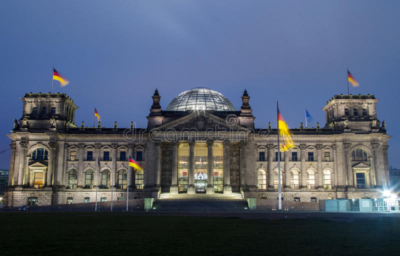 Reichstag柏林 免版税图库摄影