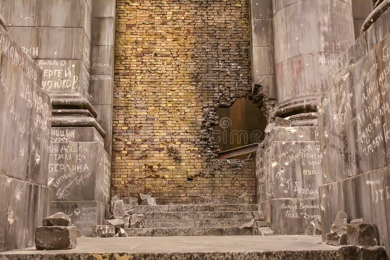 Reichstag的西洋镜墙壁 库存图片