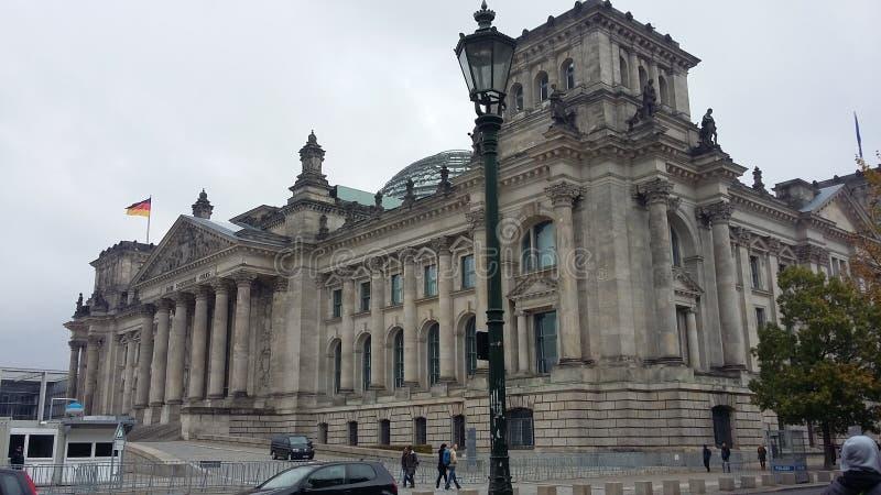 Reichstag联邦议会柏林 免版税图库摄影