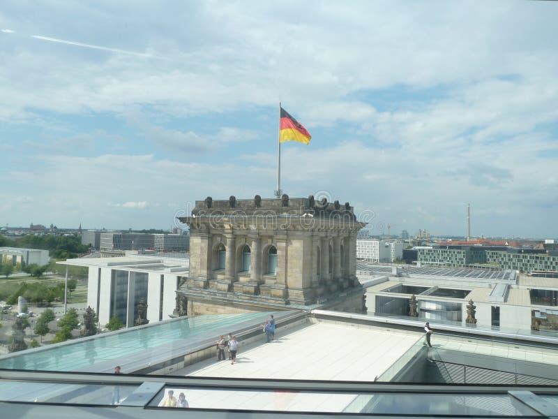 Reichstag,议会在德国,屋顶 库存图片