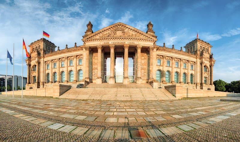 Reichstag в Берлине, Германии, панораме стоковое изображение rf