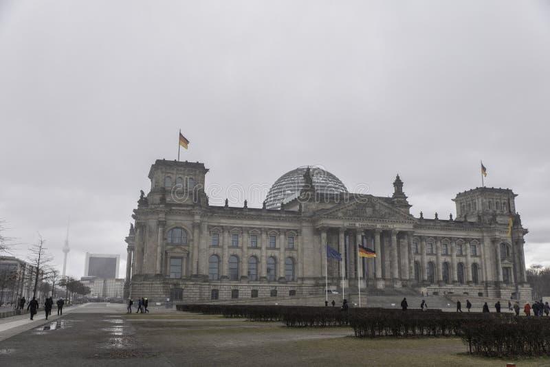 Reichstag в Германии стоковое фото