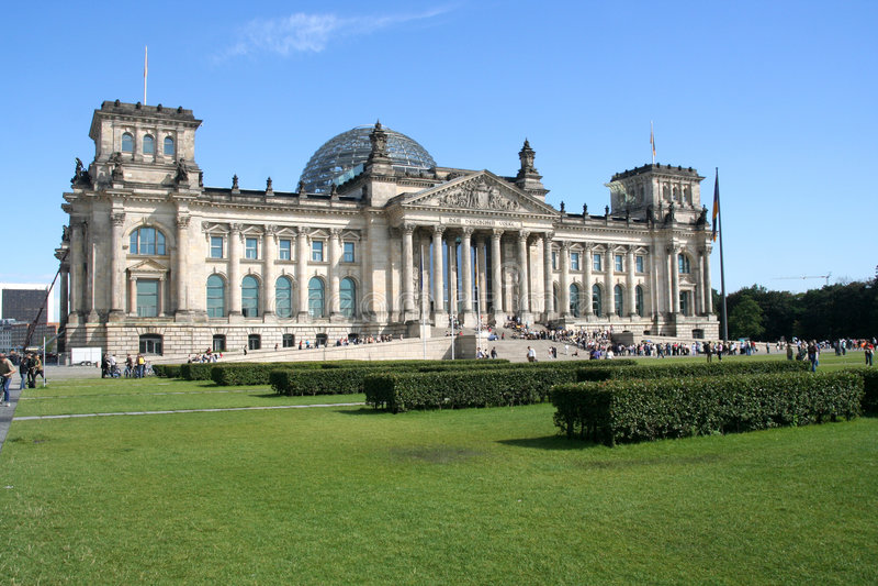 reichstag здания berlin стоковое изображение