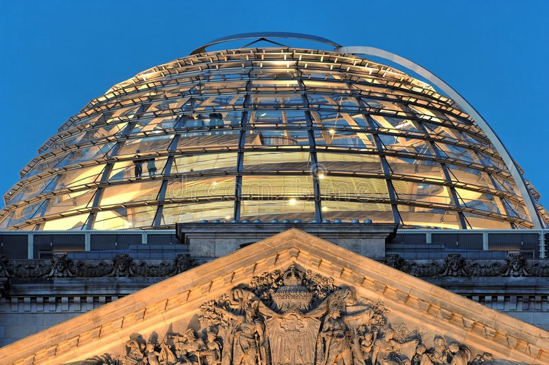 reichstag купола berlin стоковая фотография