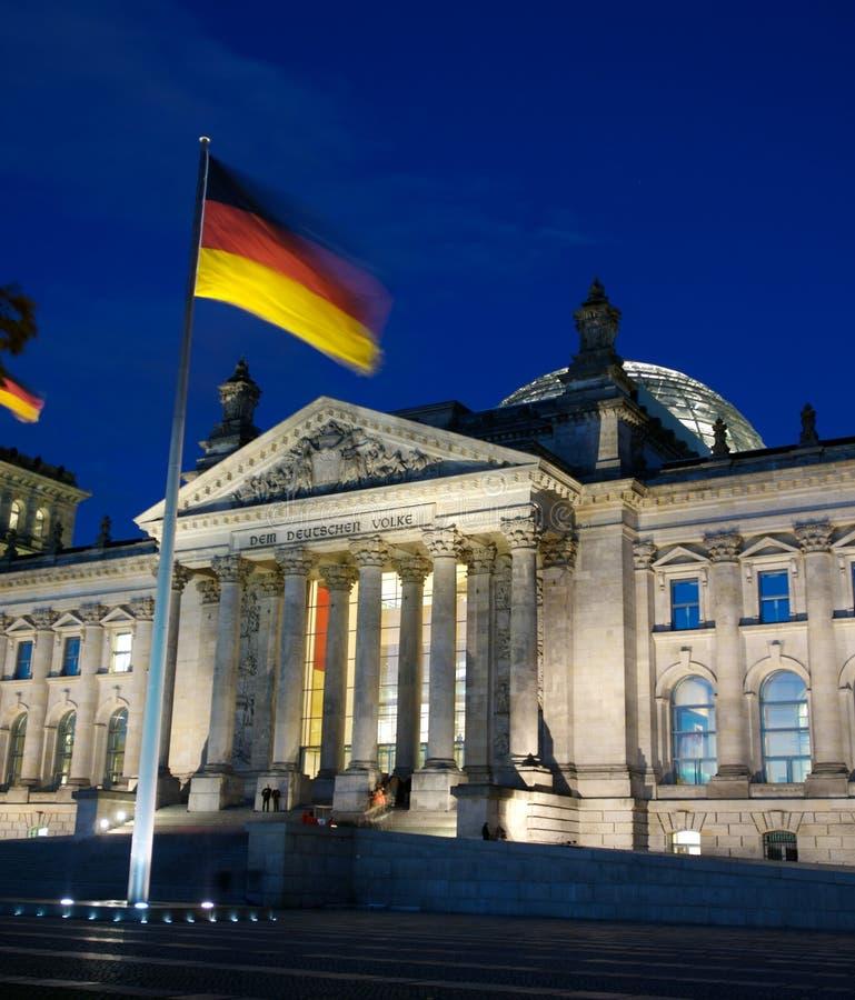 reichstag парламента berlin стоковое изображение