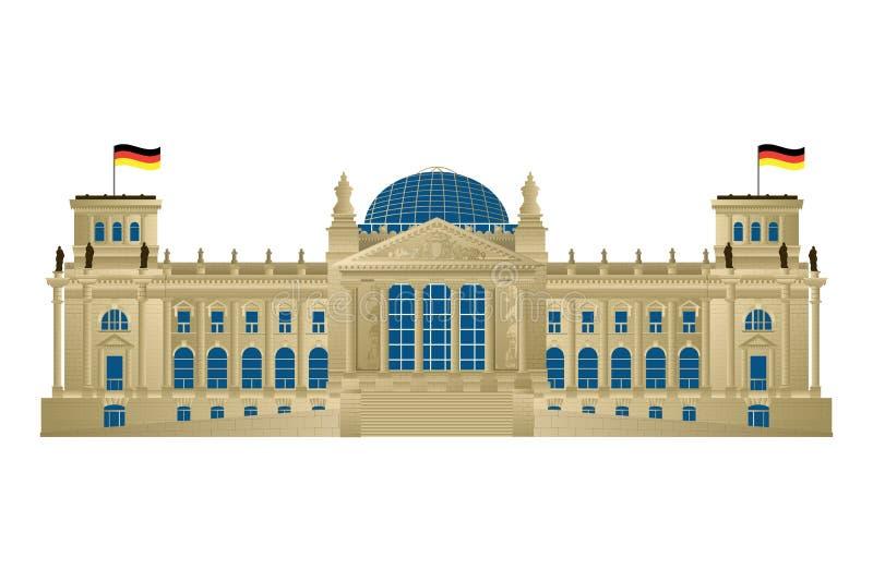 Reichstag stock illustration