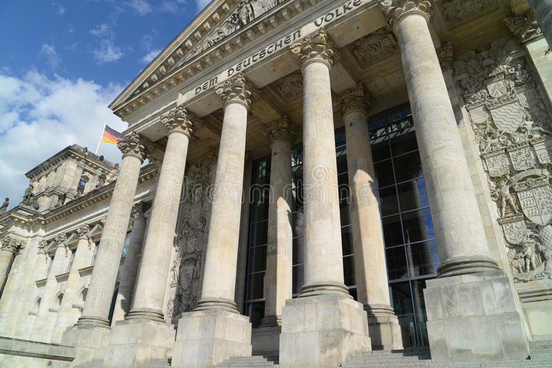 Download The Reichstag stock photo. Image of entrance, blue, berlin - 27171226
