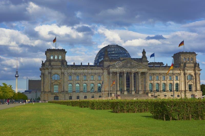 Reichstag allemand à Berlin image libre de droits