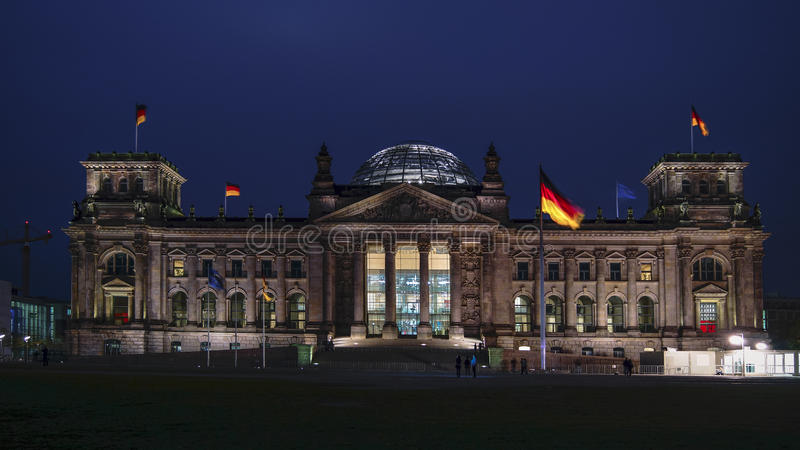 Reichstag, attraction in Berlin, Germany stock photography