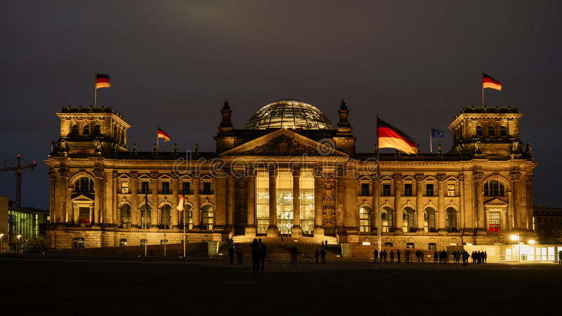 Reichstag, attraction in Berlin, Germany royalty free stock image