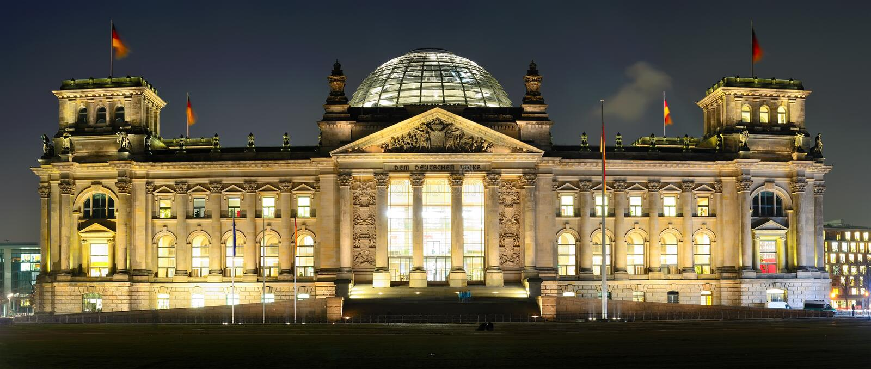 Reichstag Berlim, Alemanha fotografia de stock royalty free