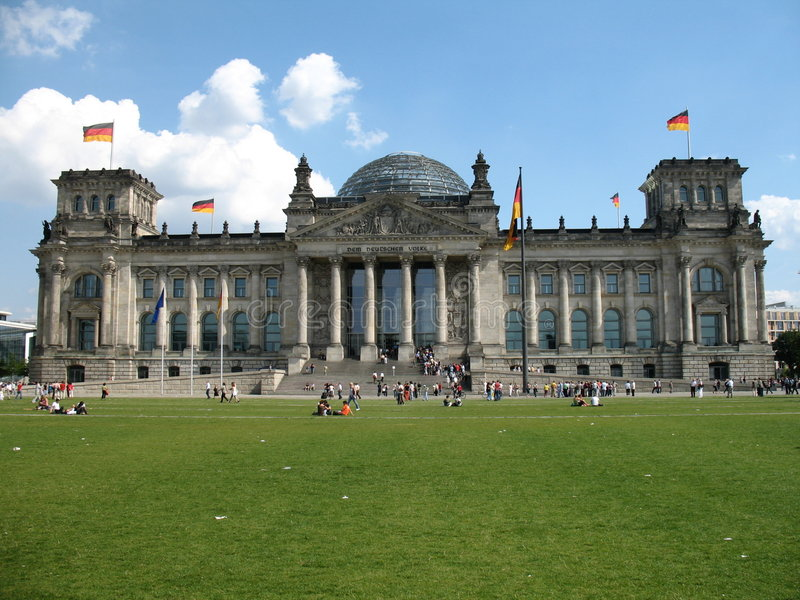 Download Reichstag Berlin stock photo. Image of clouds, politics - 3129182