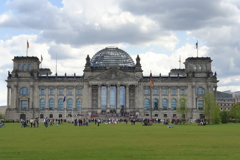 Reichstag in Berlin stockbilder