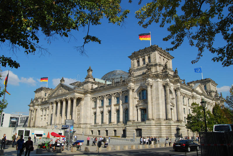 Reichstag Berlin zdjęcie stock