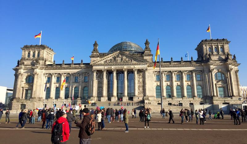 Reichstag Berlin royaltyfri fotografi