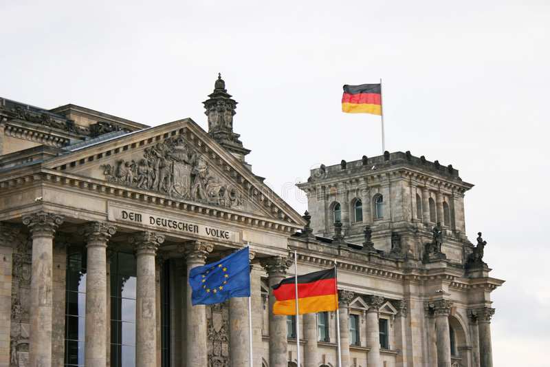 Reichstag - Berlin, Allemagne photo stock