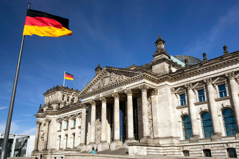 Reichstag in Berlin, Deutschland stockfotografie