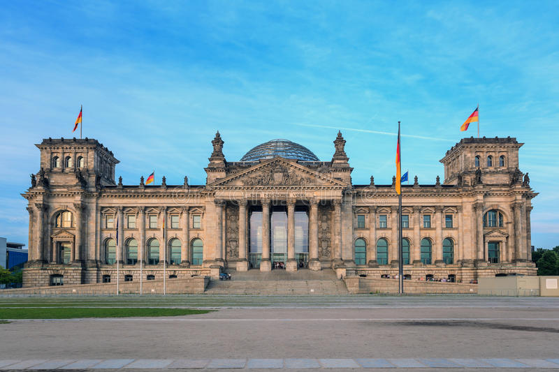 Reichstag a Berlin Germany immagine stock