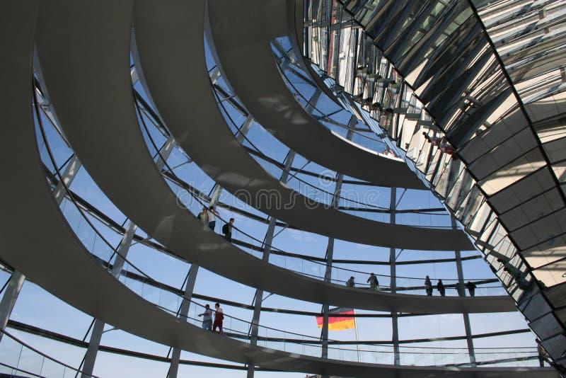 Reichstag Berlin Haube lizenzfreies stockbild