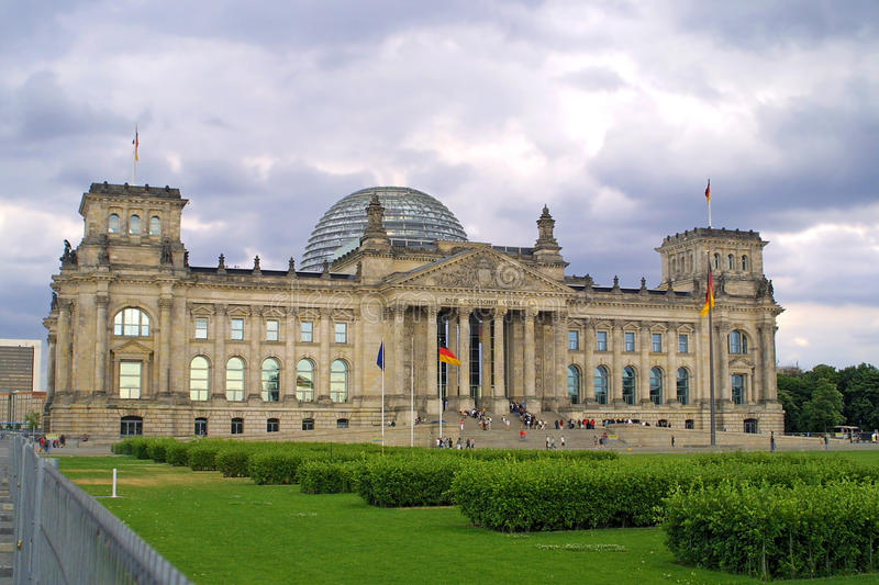The Reichstag building royalty free stock photos