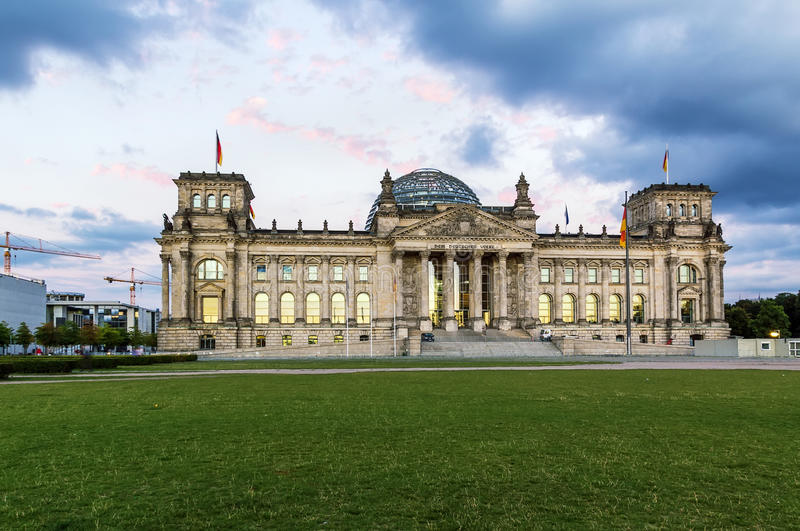 Reichstag building, Berlin royalty free stock photos