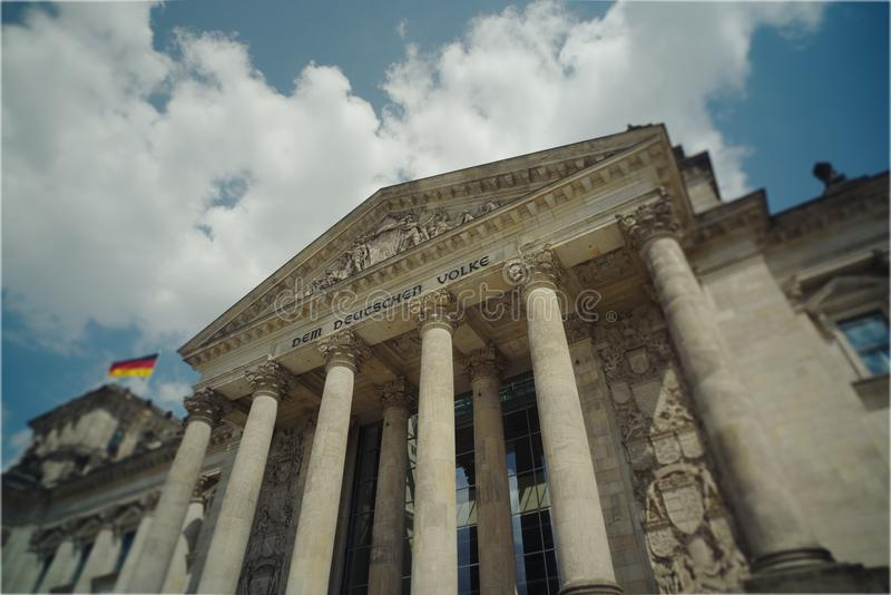 Reichstag building, Berlin, Germany stock image