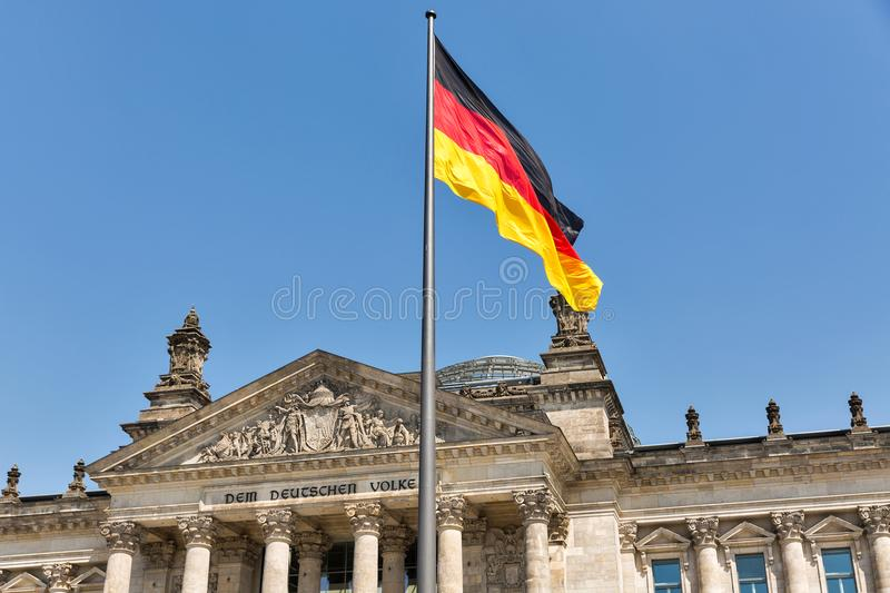 Reichstag building, seat of the German Parliament. Berlin, Germany royalty free stock image