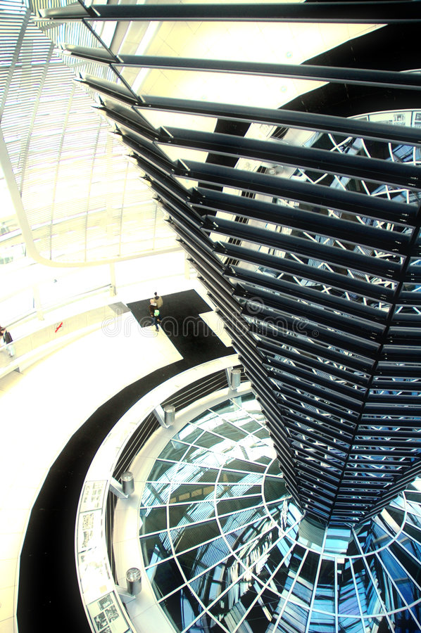 Reichstag Dome - Berlin royalty free stock photography