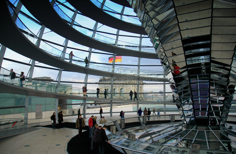 Reichstag Dome - Berlin stock images