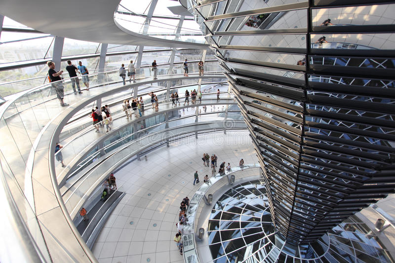 Reichstag dome at the German parliament stock image