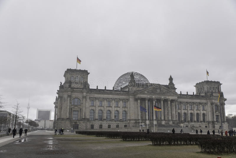 Reichstag in Duitsland stock foto