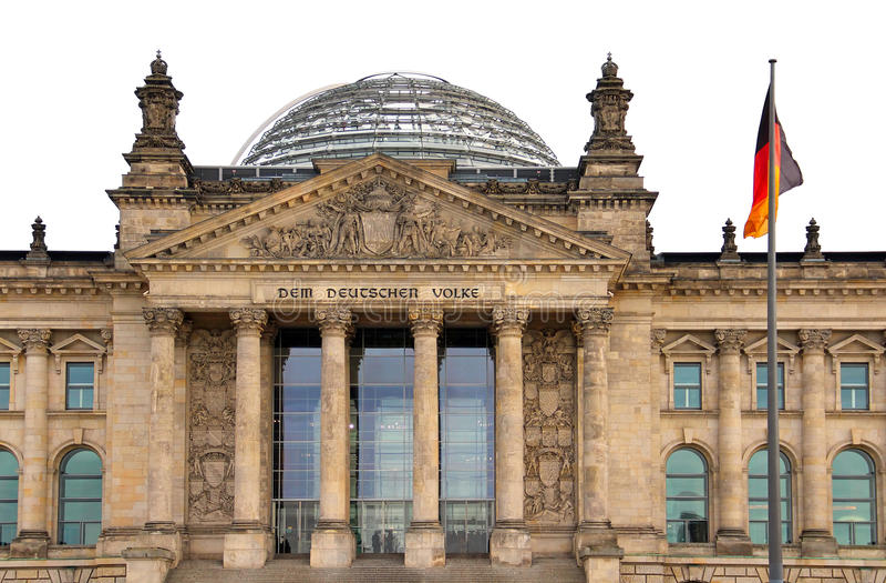 Reichstag-Gebäude in Berlin lizenzfreie stockfotos