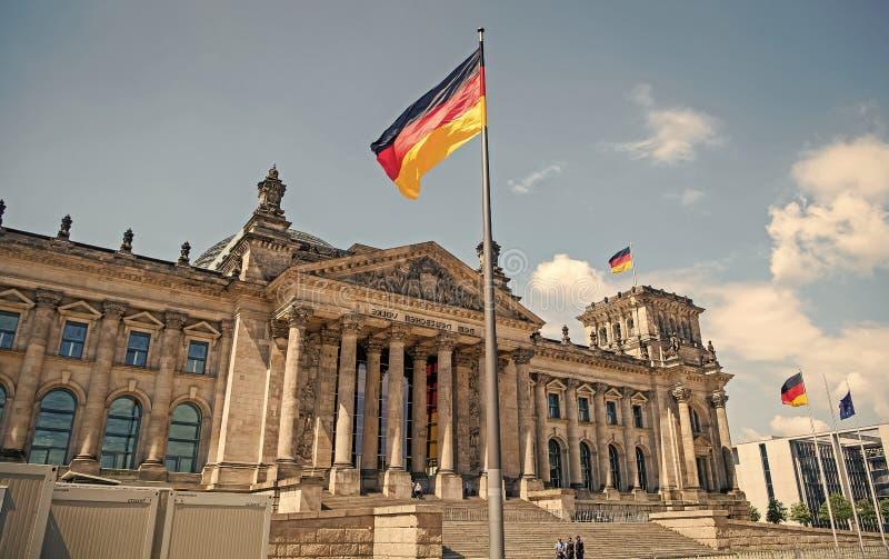 Reichstag-Geb?ude, Sitz des deutschen Parlaments lizenzfreie stockfotografie