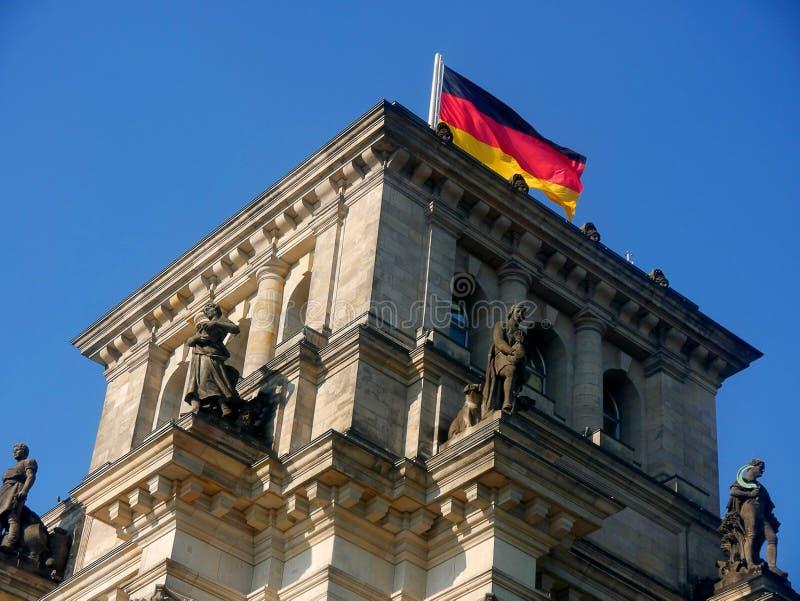 Reichstag jest historycznym gmachem w Berlin, Niemcy, budujący mieścić Cesarską dietę Niemiecki imperium obraz royalty free