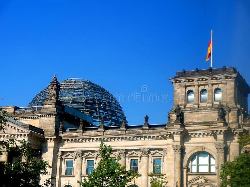 Reichstag jest historycznym gmachem w Berlin, Niemcy, budujący mieścić Cesarską dietę Niemiecki imperium obrazy royalty free