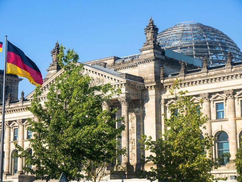 Reichstag jest historycznym gmachem w Berlin, Niemcy, budujący mieścić Cesarską dietę Niemiecki imperium fotografia stock