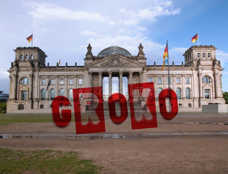 Reichstag parlament w Berlin fotografia royalty free