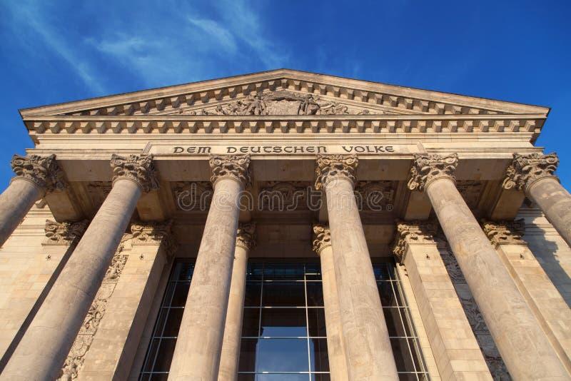 Reichstag-Portal stockbilder
