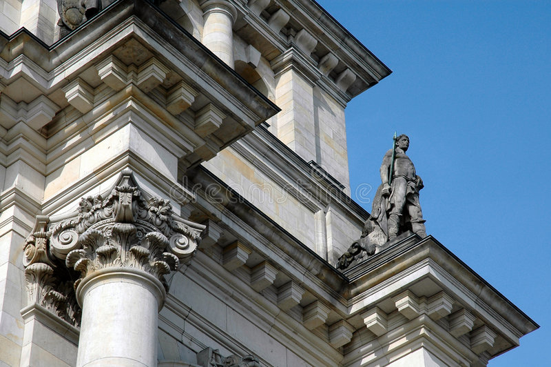Download Reichstag Statue In Berlin, Germany Stock Photo - Image: 858254