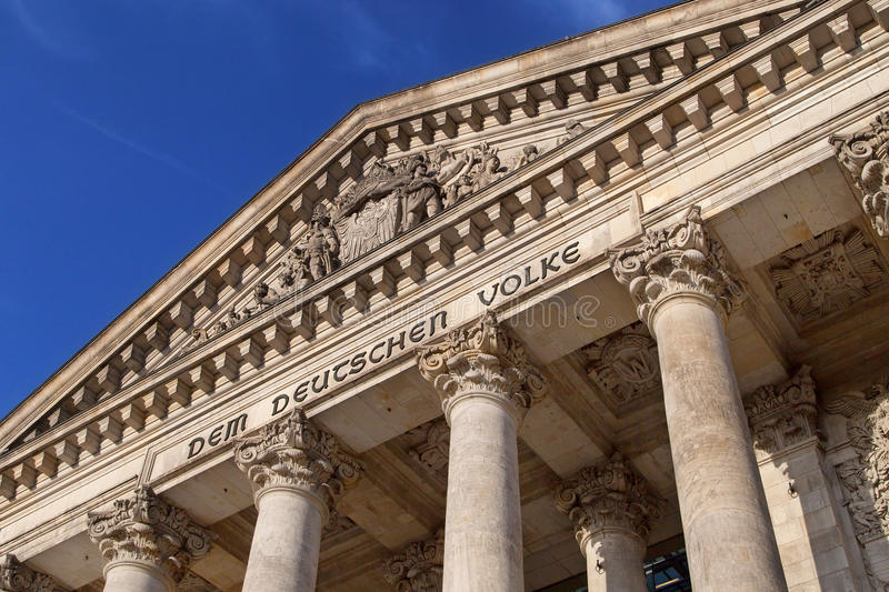 Reichstag tympanum royalty free stock photo